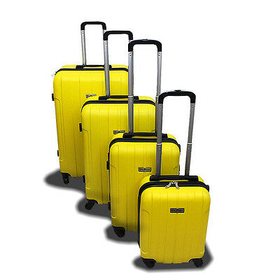 New Generic 4PCS Luggage Travel Set Bag ABS Trolley Suitcase w/ Lock Yellow