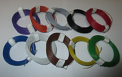 [0,1695€€/m] Copper - Stranded wire extra thin 0,04 mm² 10 Rings a 10 Meter NEU