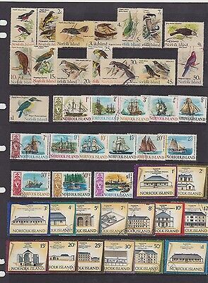 Norfolk Island, 1967-73, Elizabeth high values, used sets, Birds, Ships,