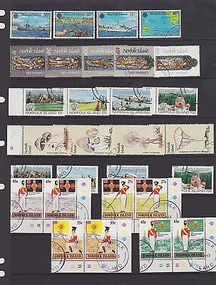 Norfolk Island, 1982-83, Elizabeth high values,  6 used sets, Fungi, uniforms