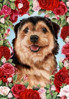 Garden Indoor/Outdoor Roses Flag - Norfolk Terrier 192251