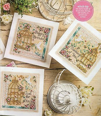 Counted cross stitch chart. Vintage style cards.