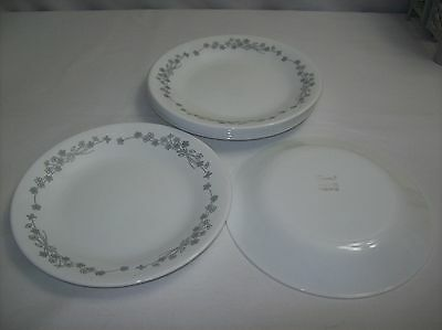 LOT OF 7 Retired Ribbon Bouquet Corelle Dessert Plates 6 3/4\