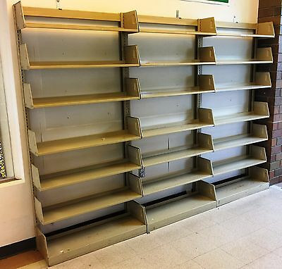 Used Cantilever Metal Library Shelving - bookcase , book storage single sided