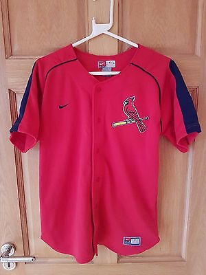 St Louis Cardinals Mlb Official Team Nike Players Baseball Shirt Size Large