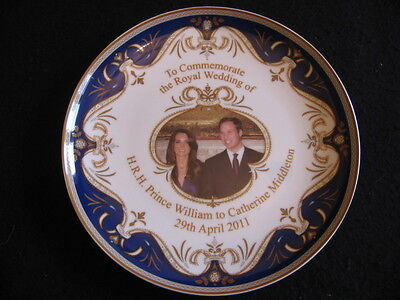 """8"""" COMM' PLATE ROYAL MARRIAGE PRINCE WILLIAM to CATHERINE MIDDLETON 2011 EX"""