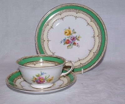 Crown Staffordshire Vintage Floral Tea Trio Set Cup Saucer Plate F14486