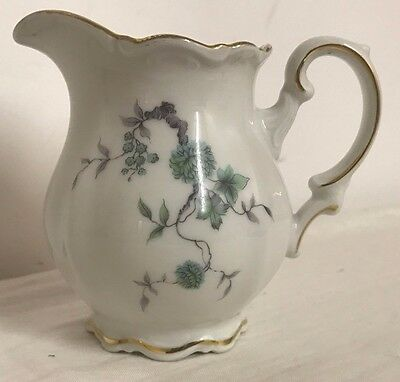 Vintage Mitterteich Bavaria Germany GREEN MING Creamer or Small Pitcher- MINT!