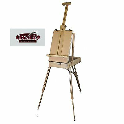 Artists storage deluxe painting table studio Travel Box wooden Easel