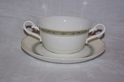 Villeroy Boch Villa Medici Twin Handle Cream Soup Bowl & Saucer Multiples