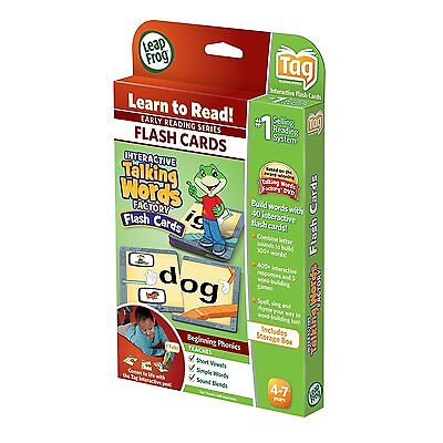 Leap Frog Leapreader Interactive Talking Words Factory Flash Cards Brand New