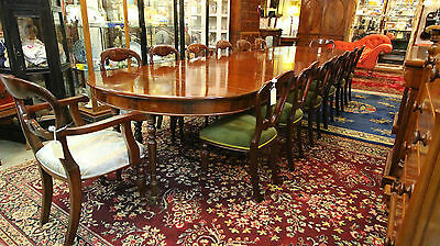 Huge William Iv Mahogany Dining Table That Seats 4 To 14 People