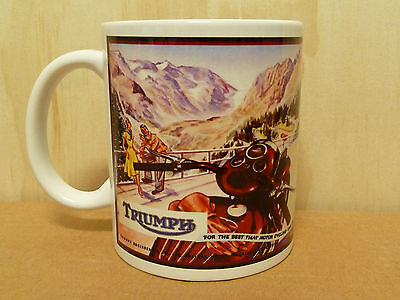 300ml COFFEE MUG, TRIUMPH MOTORCYCLES - FOR THE BEST THAT MOTORCYCLING CAN GIVE