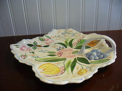Blue Ridge Southern Pottery Verna Large Leaf Accent Dish