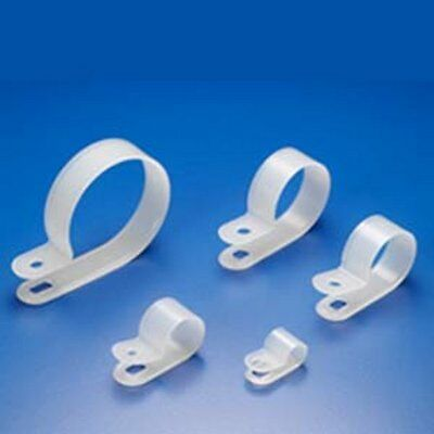 NOKO R-Type Cable Clamp, Clear (Pack of 100 Clamps)