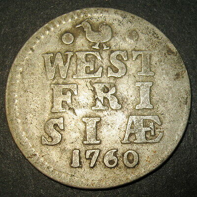 COA Silver 1760 Old Dutch Colonial New York Dime! Province West Frisia Mint 10