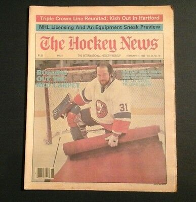 1983 Hockey News Ny Islanders Billy Smith Rolls Out Red Carpet All Star Game