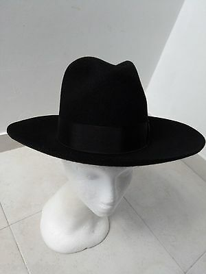 1 new Fedora Jewish Hat Kosher Israel from hare & rabbit fur Made in Hungary 53