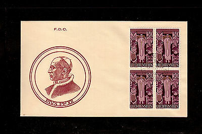 Liechtenstein 1959 First Day Cover # 335 In Memory Of Pope Pius Xii !!!