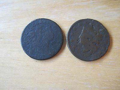 Lot of (2) United States Large Cent Coins, One dated 1807