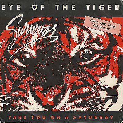 "Survivor "" Eye Of The Tiger / Take You On A Saturday"" 7"" Italy Press"