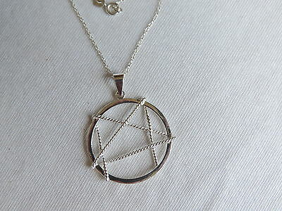 925 Sterling Silver Star Pendant Necklace Jewelry (kk231)