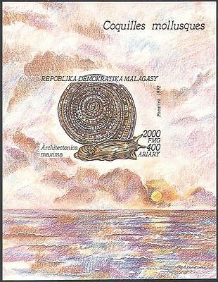 Madagascar 1992 Sea Snails/Marine/Gastropods/Insects/Nature imperf m/s (s263a)