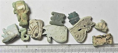 Zurqieh -Af1374- Ancient Egypt , 10 Faience  Amulets. 600 - 300 B.c