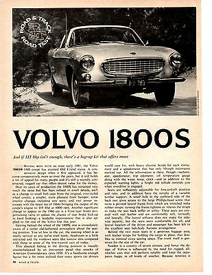 1966 Volvo 1800 S ~ Original 4-Page Road Test / Article / Ad