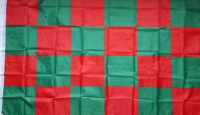 County Mayo Ireland Checkered  Gaa Hurling Flag  5Ft By 3Ft Seemed New In Bag
