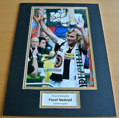 PAVEL NEDVED HAND SIGNED AUTOGRAPH 16x12 PHOTO DISPLAY JUVENTUS FOOTBALL & COA