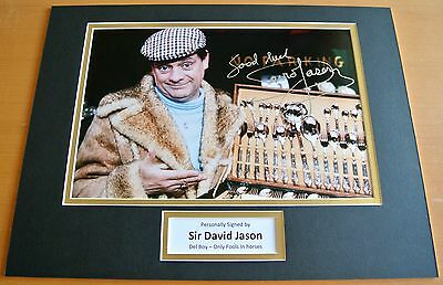 SIR DAVID JASON hand SIGNED autograph 16x12 photo display Only Fools Horses COA