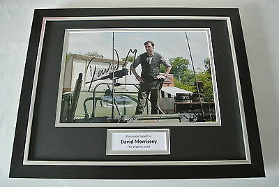 David Morrissey SIGNED FRAMED Photo Autograph 16x12 display Walking Dead & COA