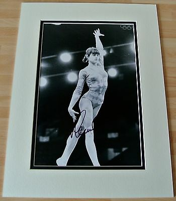Nadia Comaneci SIGNED autograph 16x12 photo display Olympic Gymnastics & COA