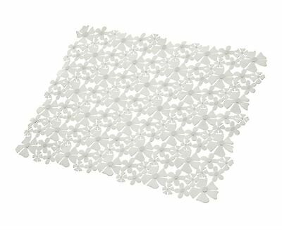 Luxury Petal Thick Vinyl Clear Anti Slip Shower Bathroom Bath Mat 45Cm - 18""