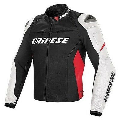 Dainese G. Racing Jacket D1 Pelle Black White Red, Leather Jacket, NEW!