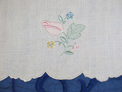 Stunning Antique VTG Madeira Hand Embroidery Placemats~6 &Tray Mat-set of 7 pcs
