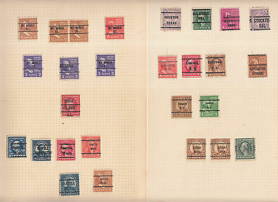 3.5 Album Pages Usa Pre-Cancels, Some Inverted 93 Values. Some Obscure Places