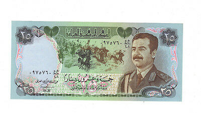 1986 Iraq Saddam Hussein 25 Dinars.. yours for only $10.00...BUY IT NOW!