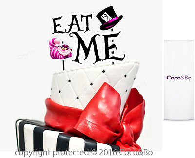 Coco&Bo 1 x Eat Me Cake Topper Alice in Wonderland Mad Hatters Party Decorations