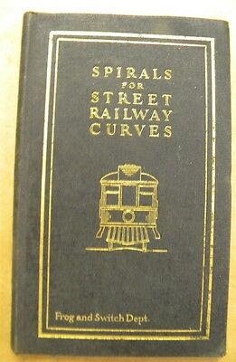 Spirals for Street Railway Curves and Easement curves for Street Railway Branch-