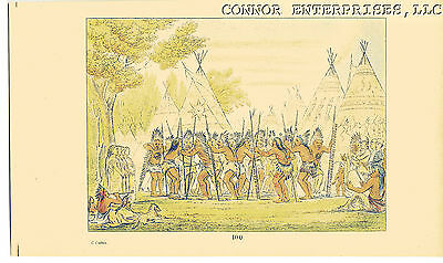 Catlin 1926 Chromolithograph American Indian Dance Of The Chiefs