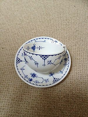 Blue And White Denmark Cup And Saucer. Furnivals Ltd.