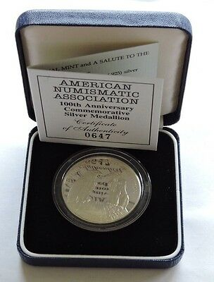 Royal Mint American Numismatic Association 100th Ann Silver Proof Medallion