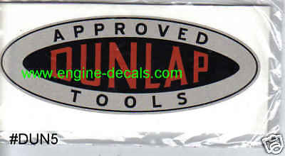 """Dunlap Tools decals 2.5"""" long Vintage carpenters box 2 for one price"""