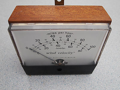 Vintage IDEAL Trade Wind Instruments Anemometer Wind Velocity MPH/Knots
