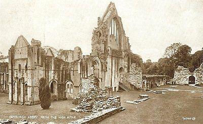 Dryburgh Abbey from The High Altar - Valentine - Posted 1933