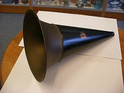 """Phonograph Parts - Original Victor Front Mount Brass Bell Horn 19 1/2"""" X 11 1/2"""""""
