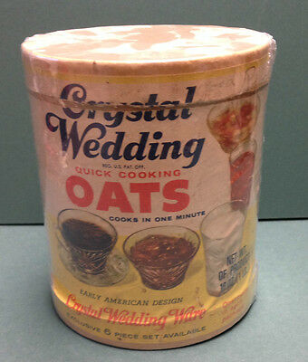 1950s or 60s CRYSTAL WEDDING OATS - QUAKER OAKS CO. Container