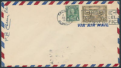 1931 AAMC #3153a Calgary to Edmonton First Flight, Pilot Signed